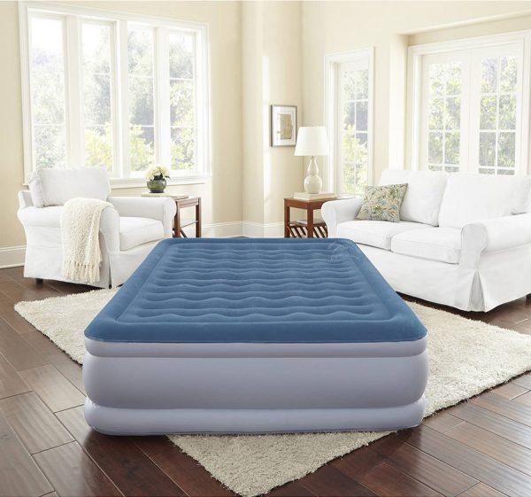 queen size air bed with inbuilt pump