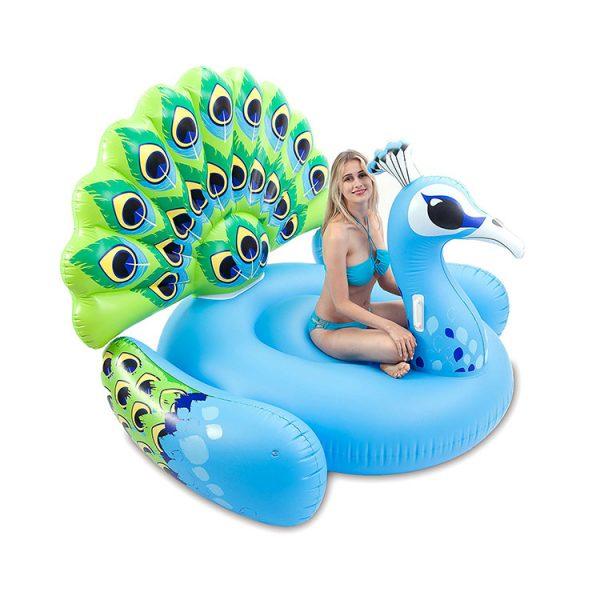 peacock swimming pool float