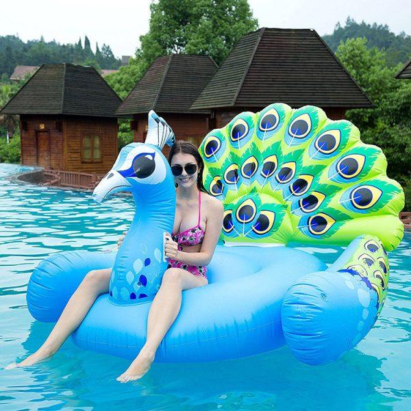 peacock giant float