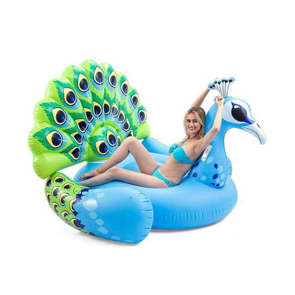inflatable peacock float