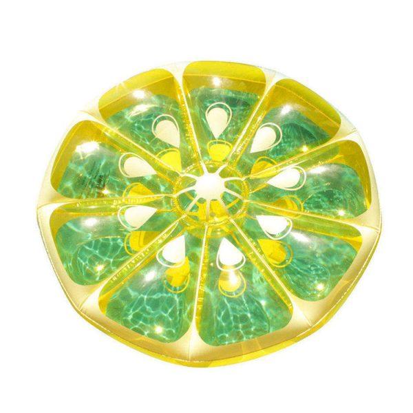 lemon floating in water