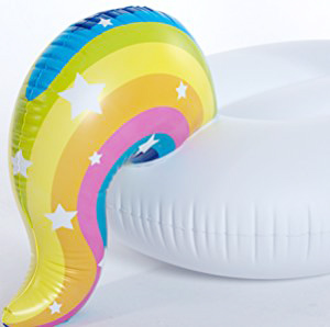 unicorn blow up pool toy