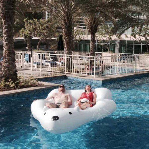 giant polar bear pool float