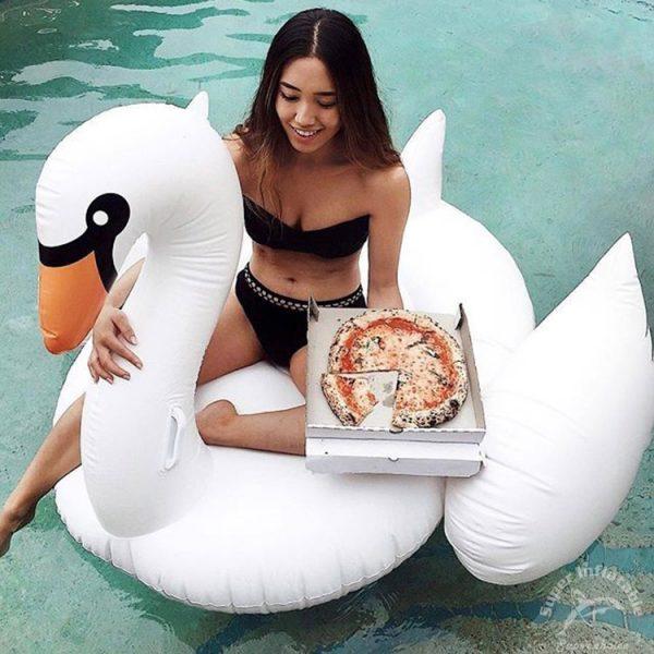 large swan pool float