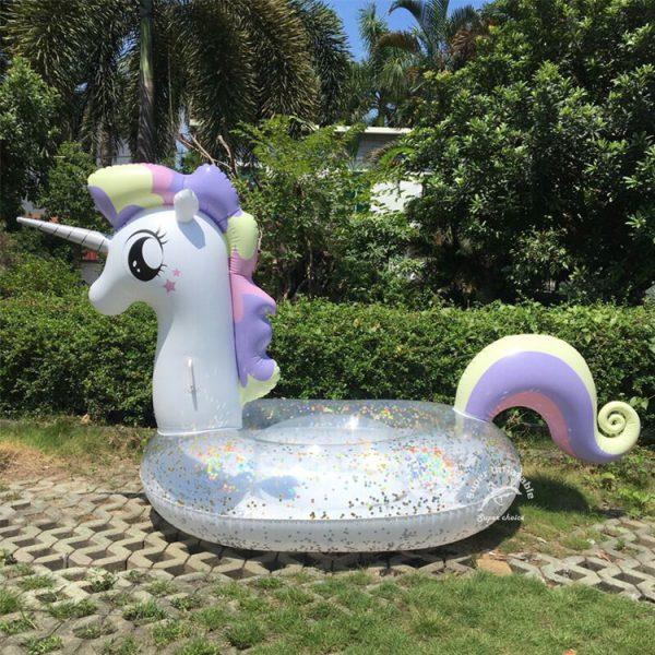 glitter unicorn float