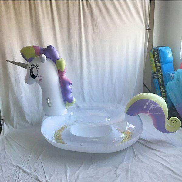 glitter pool float unicorn