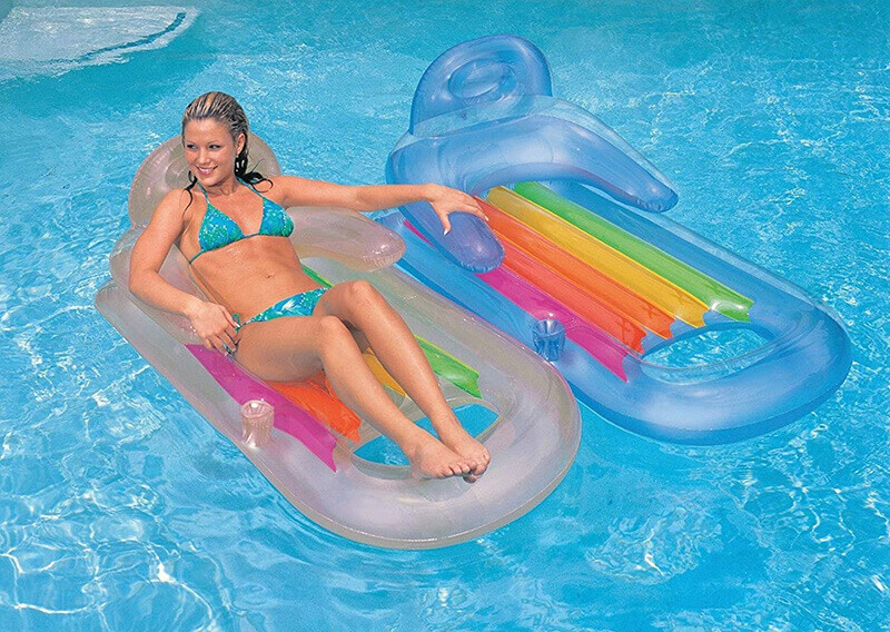 Intex King Kool Lounge Floating Swimming Pool Lounger-2