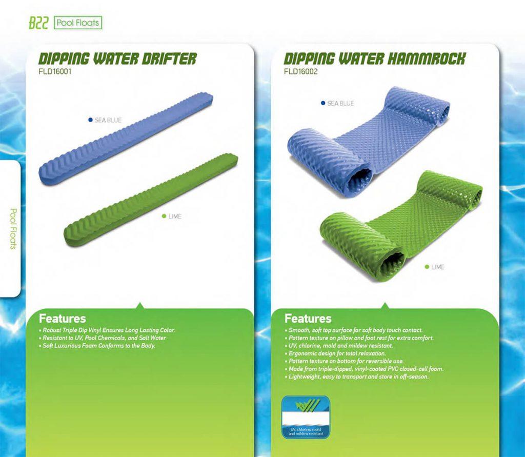 water foam floating mattress