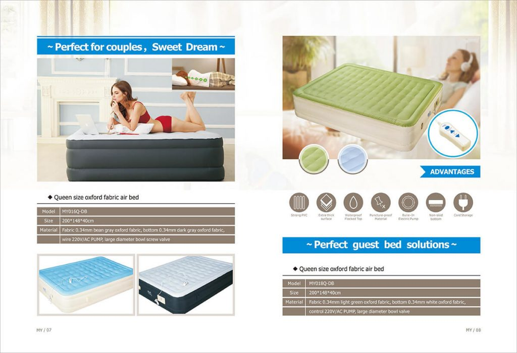 air bed queen size with built-in pump