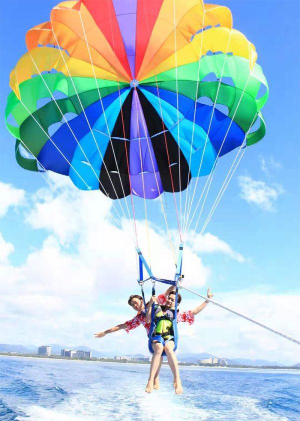 parasailing how high