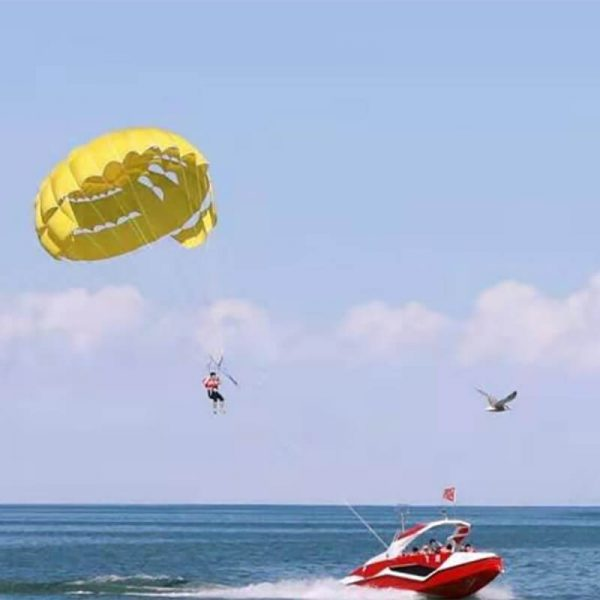 paragliding with parachute